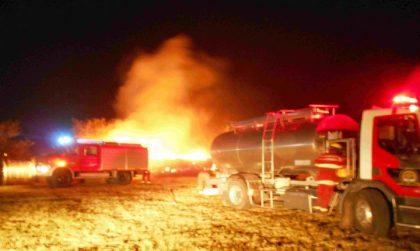 Se incendiaron 100 rollos de pasto en cercanías del casco urbano de Suipacha