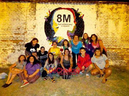 Se realizó un mural para representar la lucha de las mujeres