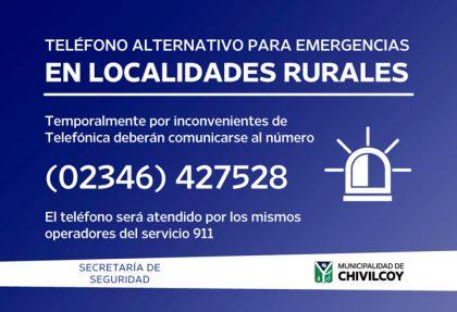 Teléfono alternativo de emergencias para localidades rurales