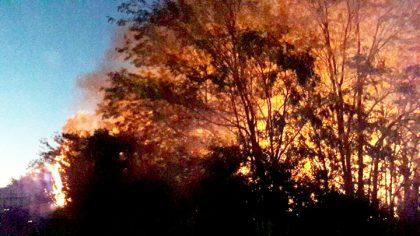 Voraz incendio en el depósito de residuos municipal de Suipacha [Videos]