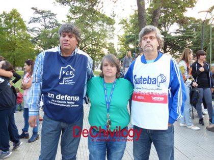 Chivilcoy se sumó a la protesta docente en contra de las propuestas del gobierno provincial [Videos]