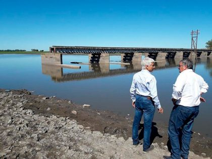 A mediados de este mes se comenzará a reparar el puente ferroviario sobre el río Salado