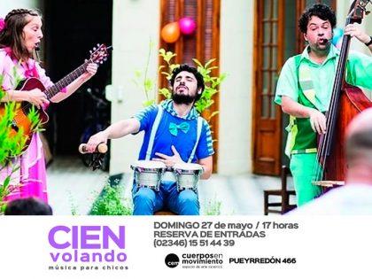 """Cien volando, música para chicos, en """"Cuerpos En Movimiento"""""""