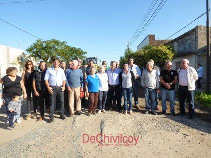 Comenzaron nuevas obras de pavimentación en Chivilcoy