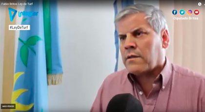 """Fabio Britos. Ley de Turf: """"Queremos aportar ideas, para mejorar el proyecto que envió la gobernadora"""" [Video]"""
