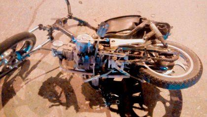 Falleció un menor de 15 años producto de la colisión entre una moto y una bicicleta
