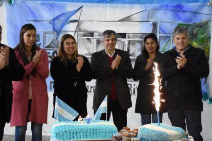 La Escuela Secundaria de Moquehuá celebró el Día de la Bandera y festejó el 57° aniversario de su creación