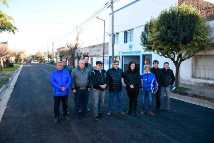 Inició la obra de asfalto esperada por los vecinos de Chivilcoy