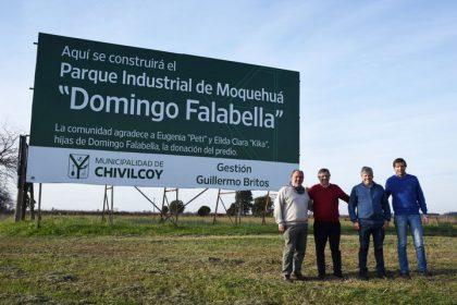 Iniciaron los trabajos de demarcación de las calles del Parque Industrial de Moquehuá
