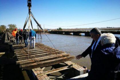 Repararon el puente que une las ciudades de Bragado con Alberti