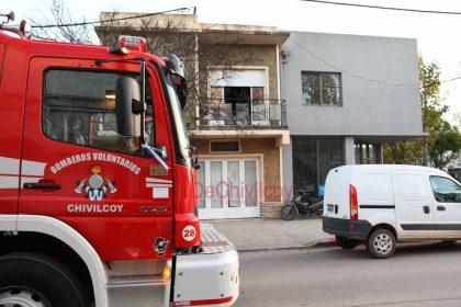 Fueron convocados los Bomberos por el incendio de un calefactor