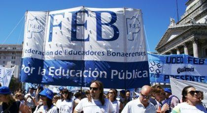 La adhesión docente al paro nacional es contundente en la Provincia de Buenos Aires