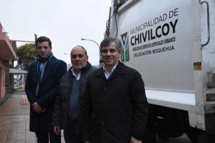 Moquehuá adquirió un camión recolector de residuos