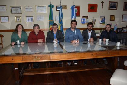 El intendente recibió al presidente de la Cámara de Diputados de la Provincia de Buenos Aires