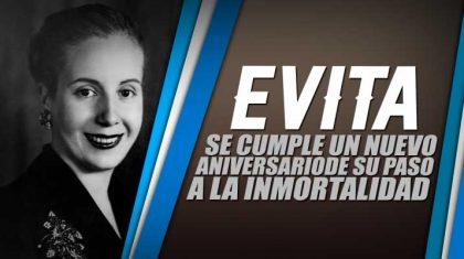 [Publicación pedida] A 66 años del paso a la inmortalidad de Evita