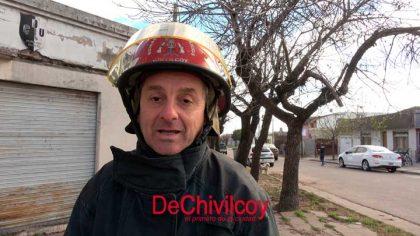Principio de incendio en una vivienda en Avenida Urquiza y General Rodríguez [Video]
