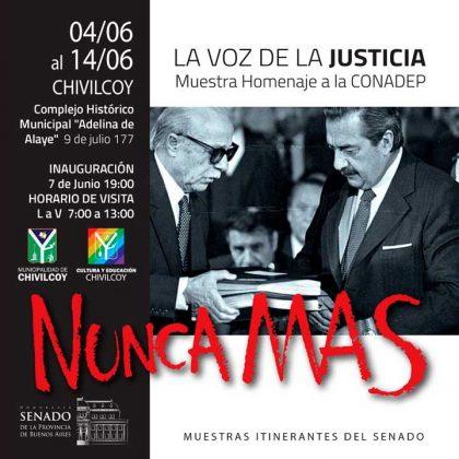 <span style='color:#f000000;font-size:14px;'>CULTURA</span><br>Muestra en homenaje a la CONADEP en Chivilcoy