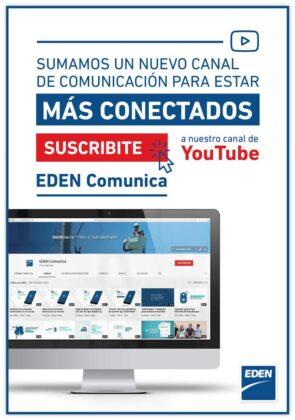 <span style='color:#f000000;font-size:14px;'>SERVICIOS</span><br>EDEN lanza su canal de YouTube