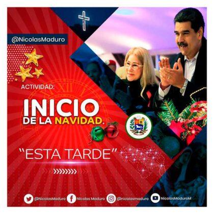 <span style='color:#f000000;font-size:14px;'>MADURO ADELANTÓ LA NAVIDAD</span><br>Maduro decretó que la Navidad en Venezuela comenzó este 15 de octubre