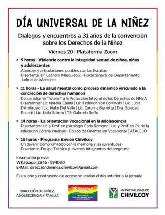 <span style='color:#f000000;font-size:14px;'>CICLO DE CONVERSATORIOS</span><br>Ciclo de conversatorios en el marco del Día Universal de la Niñez