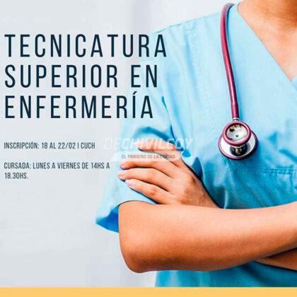 <span style='color:#f000000;font-size:14px;'>ENFERMERÍA</span><br>Se encuentra abierta la inscripción para cursar la carrera de Tecnicatura Superior en Enfermería