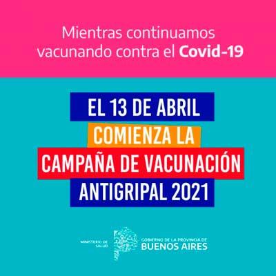 <span style='color:#f000000;font-size:14px;'>SALUD</span><br>Comenzó la Campaña de Vacunación Antigripal 2021