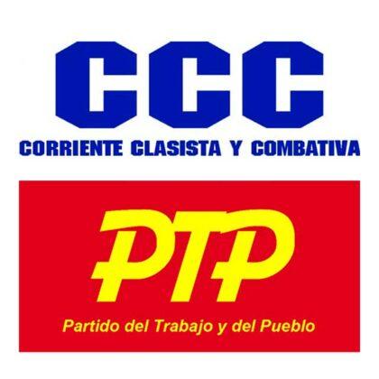 <span style='color:#f000000;font-size:14px;'>COMUNICADO</span><br>El Partido del Trabajo y el Pueblo (PTP) y la Corriente Clasista y Combativa (CCC) de Chivilcoy no apoyarán la lista del Frente de Todos a nivel local