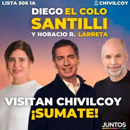 <span style='color:#f000000;font-size:14px;'>POLÍTICA</span><br>Este viernes visitarán Chivilcoy Diego Santilli y Horacio Rodríguez Larreta, acompañando a Beatriz Sotera