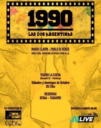 """<span style='color:#f000000;font-size:14px;'>CULTURA</span><br>El Teatro La Cueva presenta la obra teatral """"1990 – Las dos argentinas """" coproducida con la Asociación Cultural """"Sinraztro"""", de Perú"""