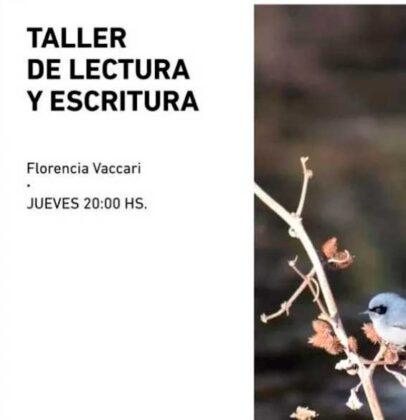 <span style='color:#f000000;font-size:14px;'>CULTURA</span><br>Florencia Vaccari coordinará un Taller de lectura y escritura