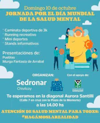 <span style='color:#f000000;font-size:14px;'>SALUD</span><br>Jornada por el Día de la Salud Mental organizada por SEDRONAR y Casa Pueblo